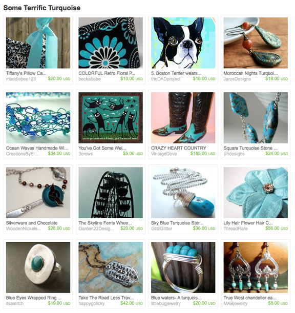 Some Terrific Turquoise treasury on Etsy