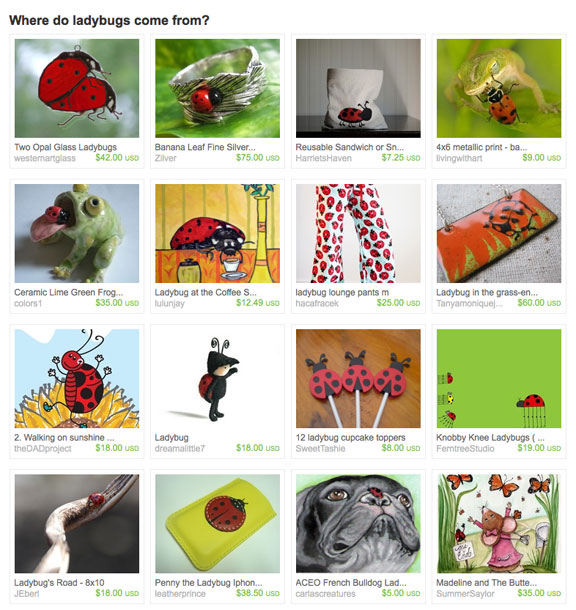 Where do ladybugs come from Treasury on Etsy website by Rock Water Jewelry