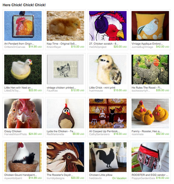 Hey Chick! Chick! Chick! Etsy Treasury
