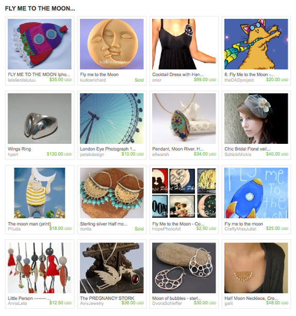 Fly Me to the Moon Etsy Treasury