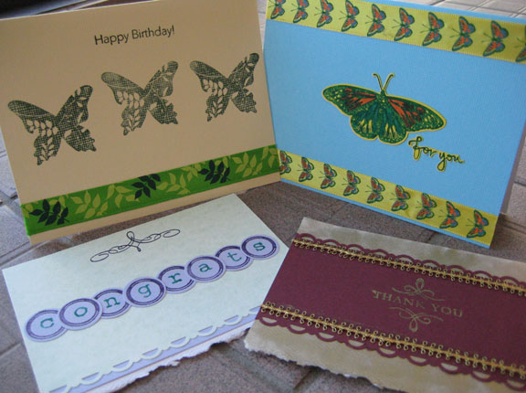 Wanda Woods - Handmade and stamped gift card set