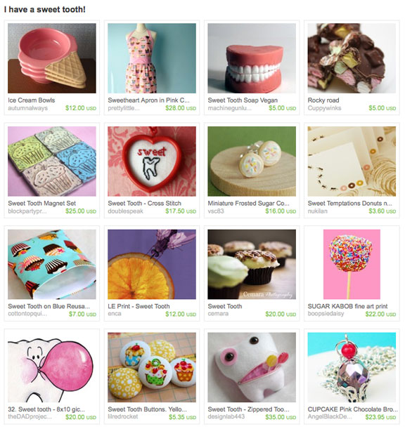 I have a sweet tooth! Etsy treasury by AmesHandmade