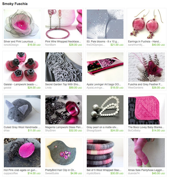 Smoky Fuschia Etsy Treasury by Rolyzcreations