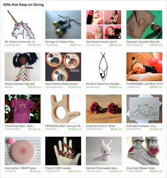 Gifts That Keep on Giving etsy treasury by pickleladyfarm