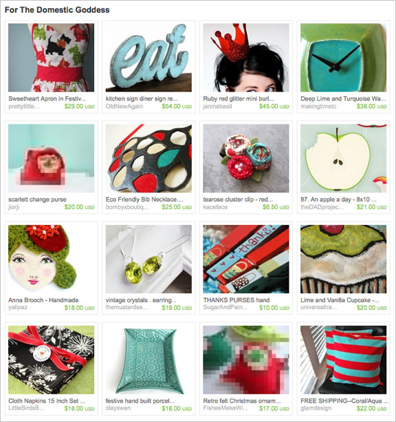 For the Domestic Goddess etsy treasury by LovelyTiffy