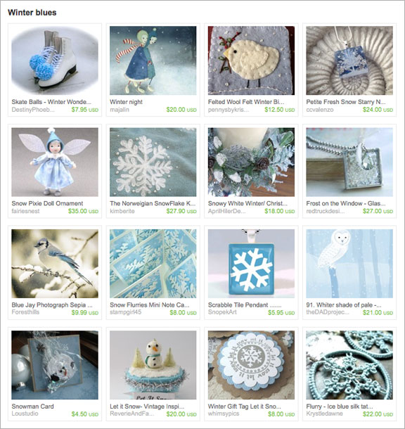 Winter Blues etsy Treasury by SeaDreamStudio