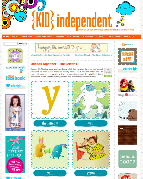 KIDindependent Oddball Alphabet - The Letter Y