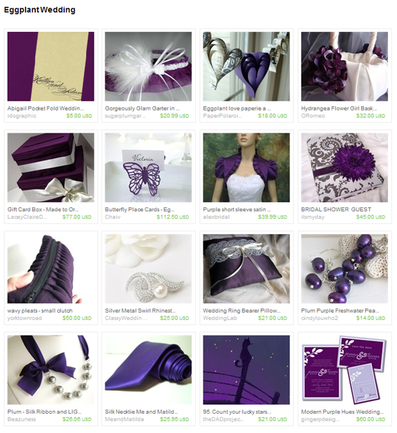 Eggplant Wedding etsy treasury by lunaessence