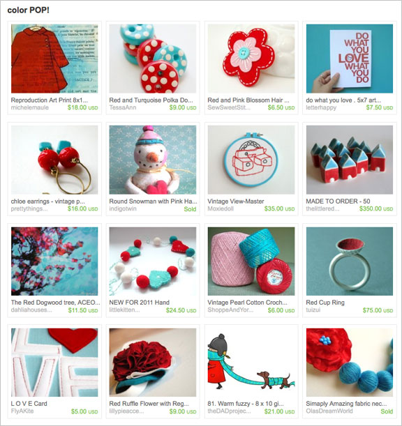 Color POP etsy treasury by SYFjoolz