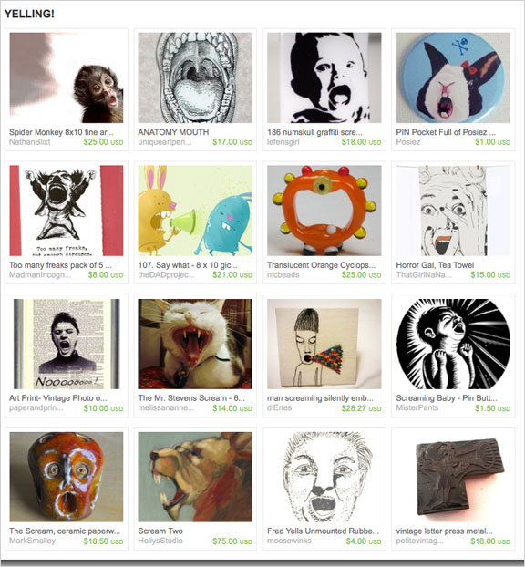 Yelling! etsy treasury by MABjewelry