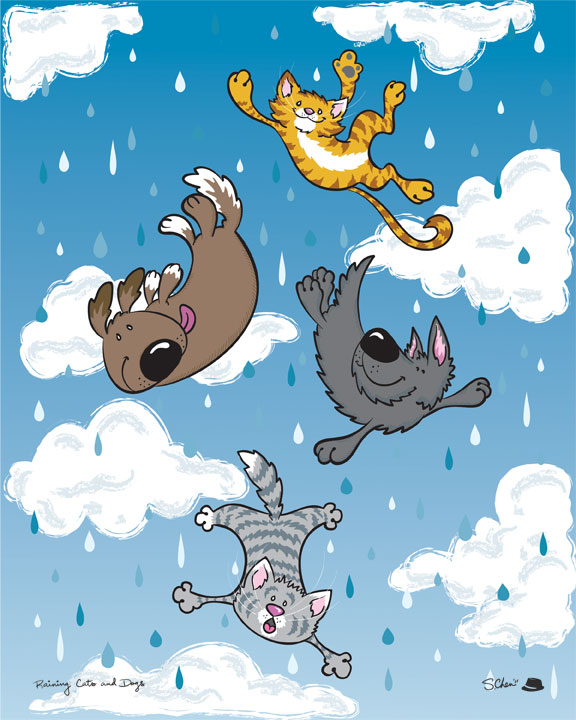 Raining Cats And Dogs Drawing Raining Cats And Dogs