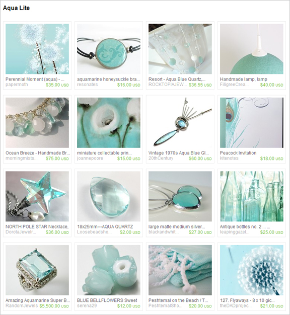 Aqua Lite etsy treasury by Analiese
