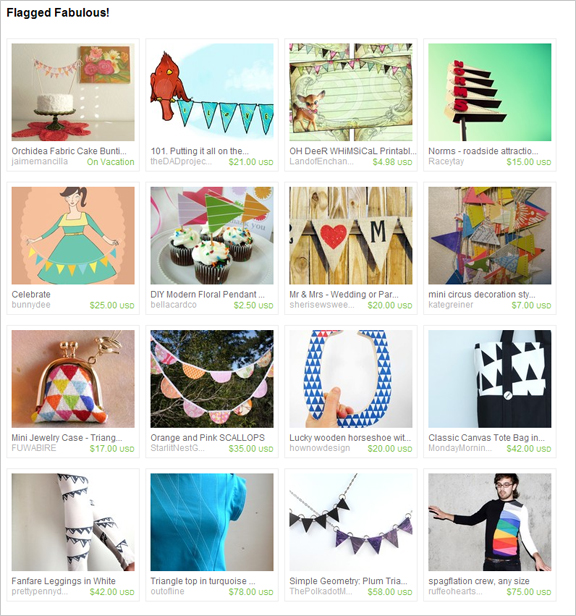 Flagged Fabulous! etsy treasury by artsyfartsybaby