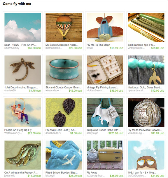Come fly with me etsy treasury by inspiredbymckenna
