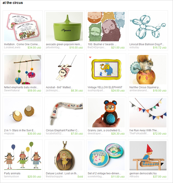 At the circus etsy treasury by Thrush