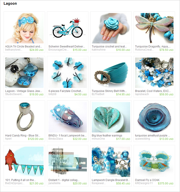 Lagoon etsy treasury by Dalim