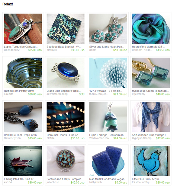 Relax! etsy treasury by lizardpoint