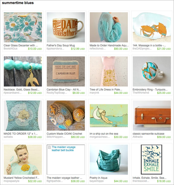 Summertime blues etsy treasury by swirlingthoughts