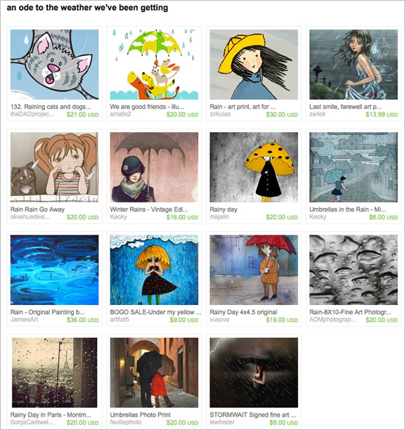An ode to the weather we've been getting etsy treasury by junquete