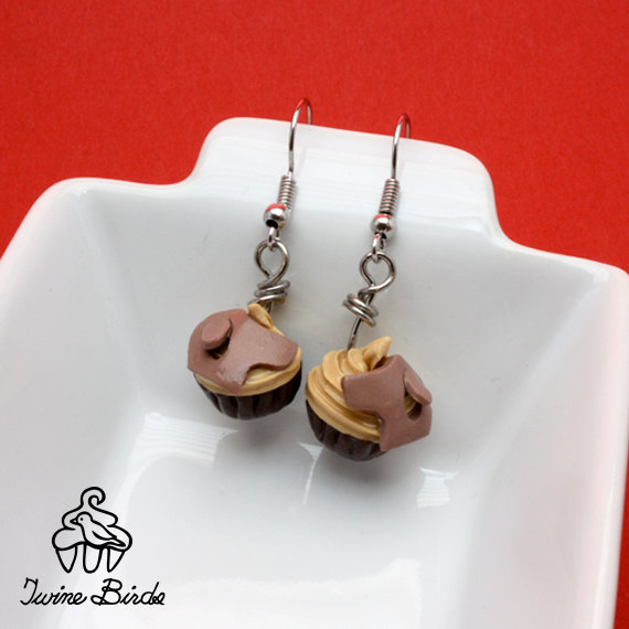 Dog cupcake earrings donation by Twine Birds
