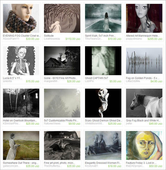 I Am Lost etsy treasury by Dessatara