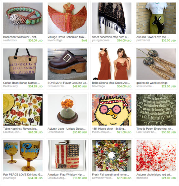 Bohemian Autumn etsy treasury by csmeyer49